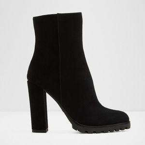 Aldo Ankle boot - Block heel Black Leather Suede